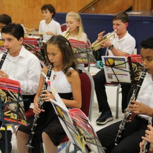 Band concert at Our Lady of Lourdes Catholic School