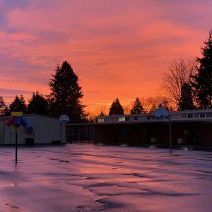 Sunset Blacktop View