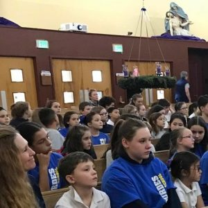 Our Lady of Lourdes Students Attending Mass