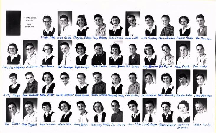 Grade 7, 1960 Our Lady of Lourdes Catholic School